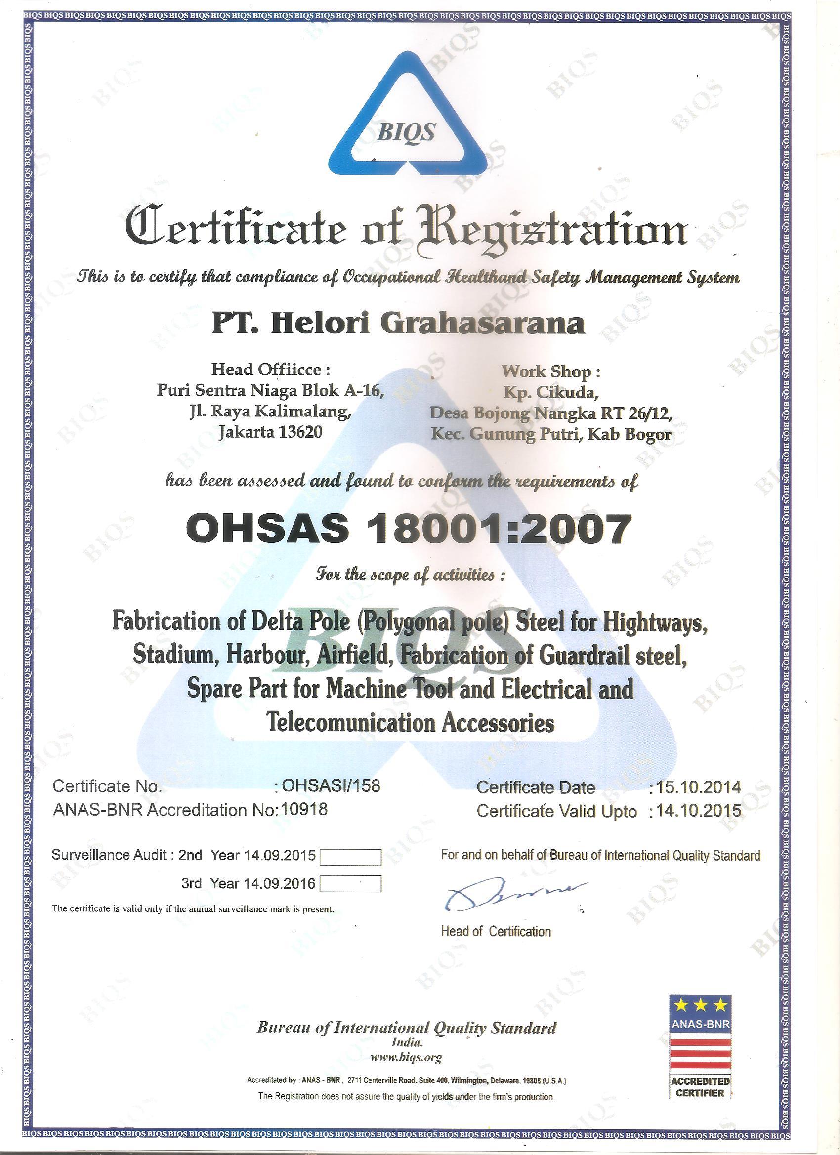 Brochures & Certificates | Pabrik Produsen Menjual Tiang Lampu Jalan PJU Oktagonal, Tiang High ...